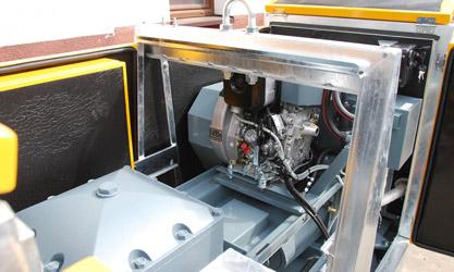 Pod silnikiem zamontowano wannę ociekową