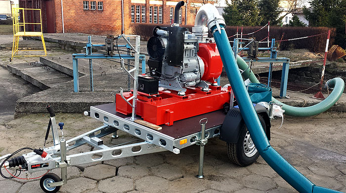 Pompa spalinowa do ścieków S150 - MPWIK Leszno