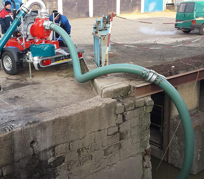 Pompa spalinowa do ścieków Victor S150 - MPWIK Leszno