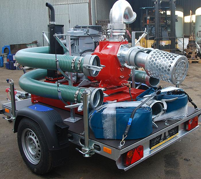 Pompa spalinowa przewoźna do ścieków S150