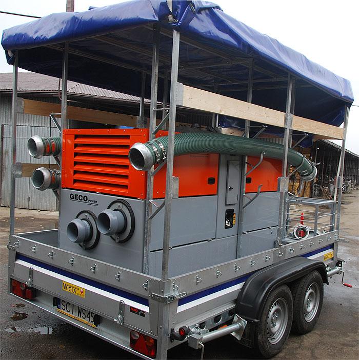 Pompa spalinowa przewoźna wyciszona do ścieków MPD 6 Silent