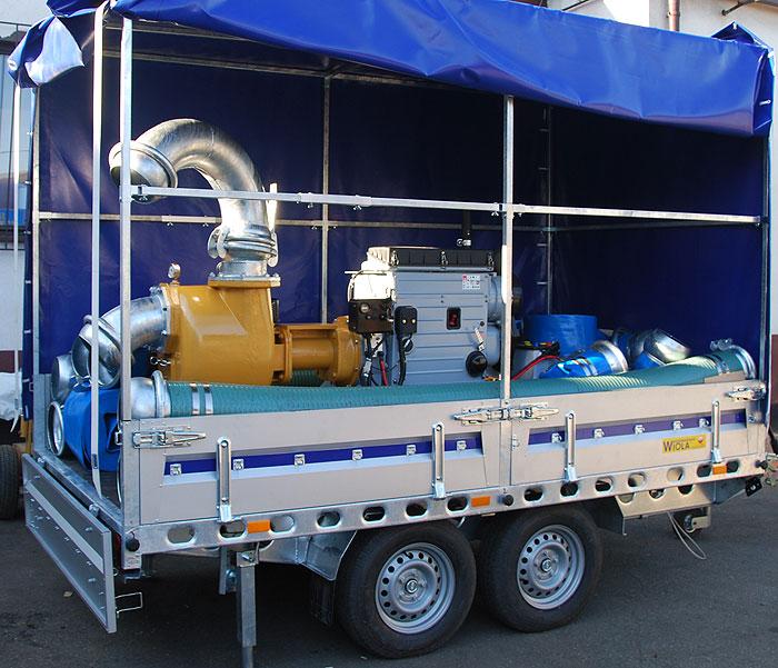 Pompa spalinowa przewoźna do ścieków S201